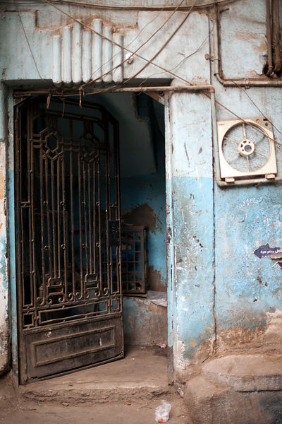 Egypt - Cairo - A doorway in Islamic Cairo, Cairo