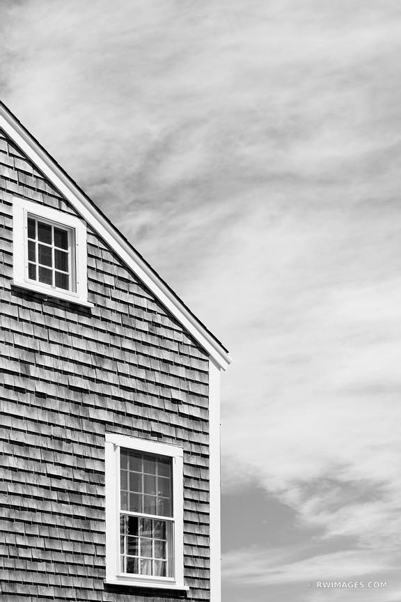 NANTUCKET ISLAND ARCHITECTURE BLACK AND WHITE