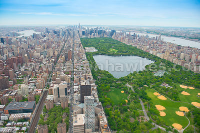 Aerial view Central park, Manhattan, New York