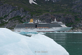 The cruise ship Arcadia at Dawes Glacier in Endicott Arm, Southeast Alaska.