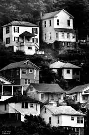 Houses stacked on hillside, WVA
