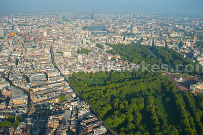 Aerial view of Green Park, London