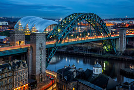 The Tyne Bridge at Rush Hour
