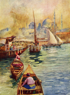 Bridge from Galata by Warwick Goble