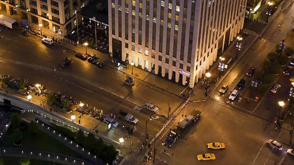 Bird's Eye: Tech Crews Turning Upper Wacker Drive Into A Transformer's Movie Set