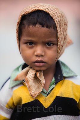 Portrait of a boy in Haridwar, India