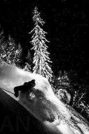 Night Powder skiing with Adrien Coirier