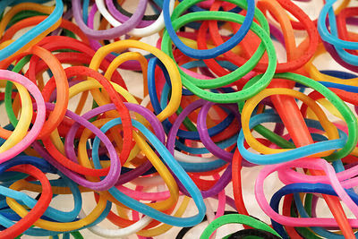 Elastic bands for loom jewelry