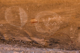 Shield Pictographs near Great Hunt Panel in Nine Mile Canyon