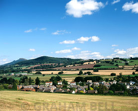 Llanellen near Abergavenny with the Skirrid mountain in the distance, Monmouthshire, Wales.