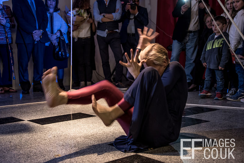 Natalia Pestova Performs At The Silence Of The Words Exhibition By Artist Ava Nadir At The French Institute In Erbil