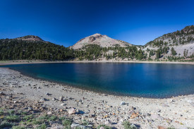 Lake Helen and Lassen Peak in Lassen Volcanic National Park