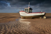 Boat at Meols on a Stormy Day