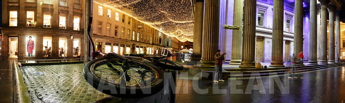 Panoramic photography of Glasgow..Gallery of Modern Art, Royal Exchange Square..Picture Copyright:.Iain McLean,.79 Earlspark Avenue,.Glasgow.G43 2HE.07901 604 365.photomclean@googlemail.com.www.iainmclean.com.All Rights Reserved.No Syndication