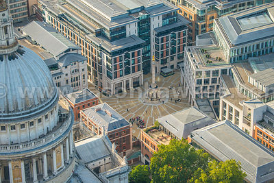 Aerial view of Paternoster Square, London