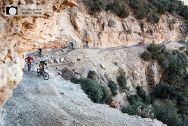 Mountain biking in Morocco.