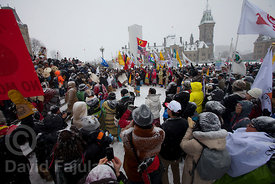 First Nations protest in front of Ottawa's Parliament