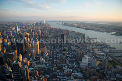 Aerial view of Hell's Kitchen, a neighbourhood of Manhattan in New York between 34th Street and 59th Street