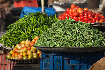 Vegetables for sale in Jodhpur, Rajasthan, India