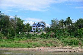Beautiful House on the Mekong River