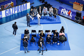 Handball discussion during the Final Tournament - Final Four - SEHA - Gazprom league, Skopje, 12.04.2018, Mandatory Credit ©SEHA/ Stanko Gruden
