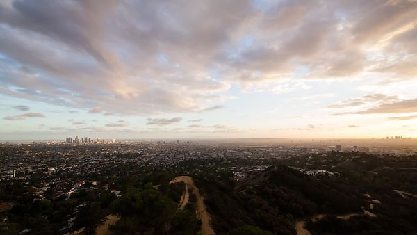 Bird's Eye: Multi-Directional Cloud Decks Stirring Above A Darkening L.A.
