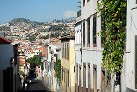 Streets in Funchal, Madeira, Portugal