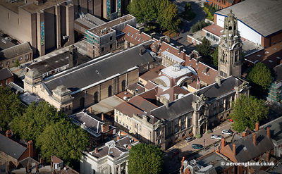 aerial photograph of  Walsall town hall West Midlands England UK