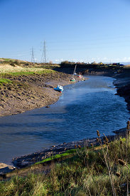 Estuary of River Rhymney, Cardiff, South Wales, UK.