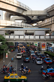 Traffic junction Bangkok Thailand
