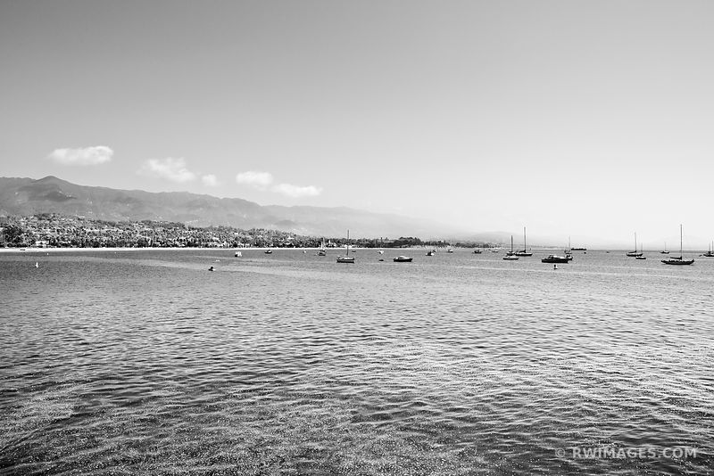 SANTA BARBARA COAST BLACK AND WHITE
