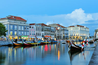 Aveiro at twilight. Portugal