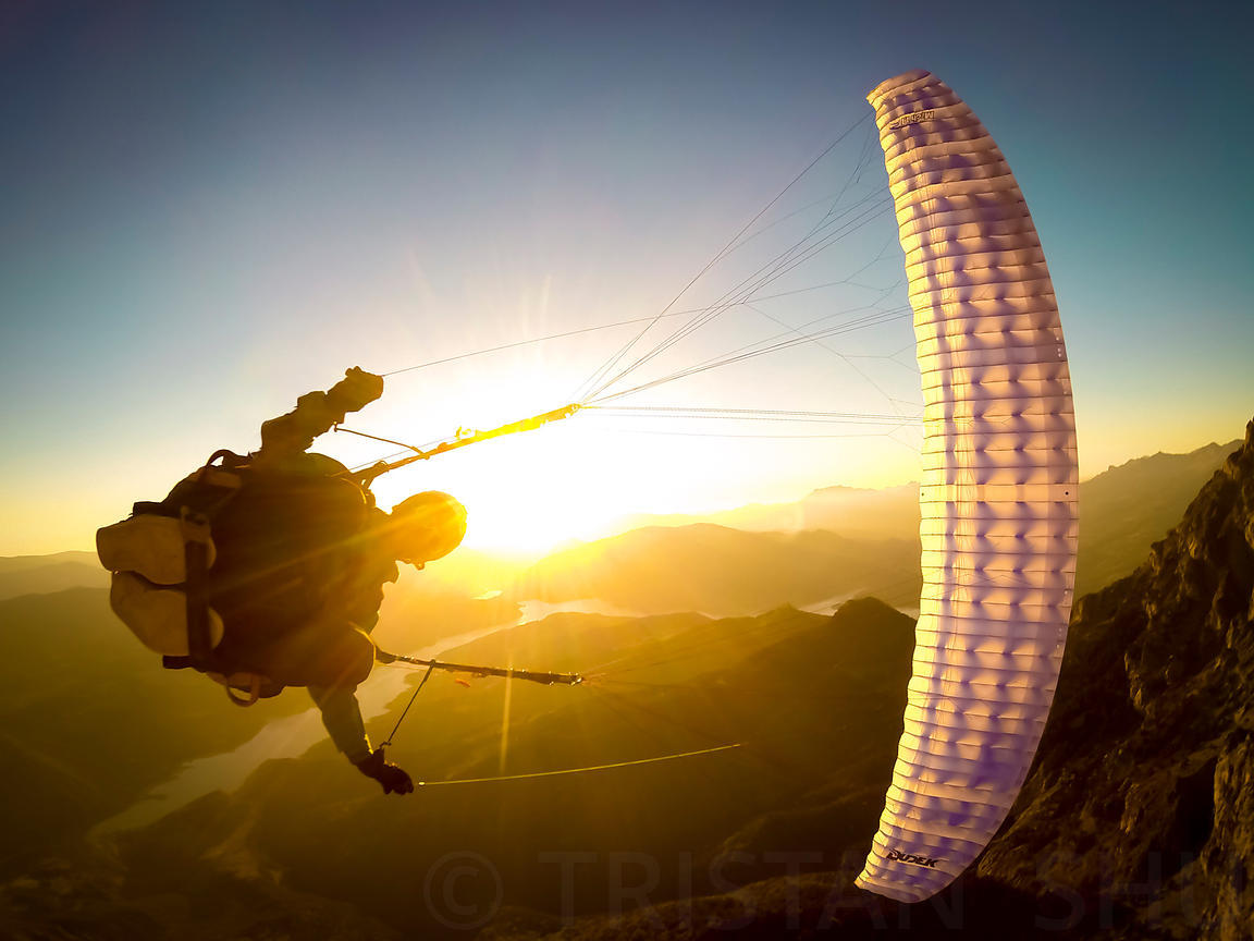 Wing Over at sunset with Maxime Chiron