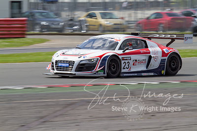 United Autosports' Audi R8 LMS Ultra in action at the Silverstone 500 - the third round of the British GT Championship 2014 - 1st June 2014