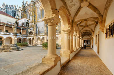 Hospedaria cloister. Convent of Christ, a UNESCO World Heritage Site. Tomar, Portugal (MR)