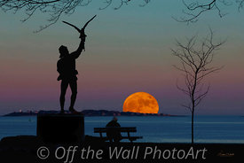 Supermoon and Falconer,