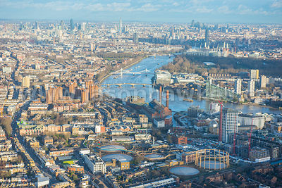 Aerial view of Chelsea, London