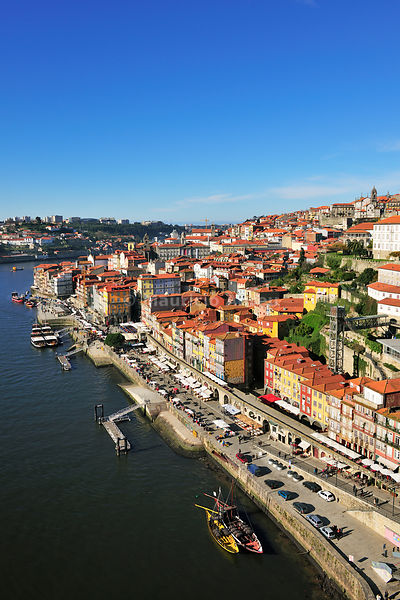 Oporto. Ribeira district, a Unesco World Heritage Site. Portugal