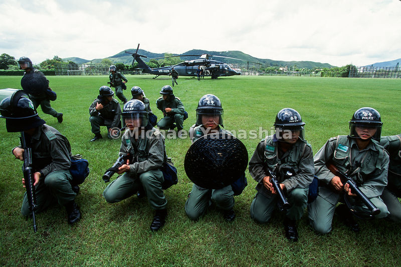 Riot Police Training.Hong Kong, China