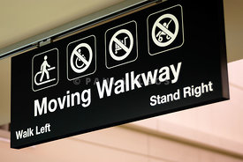 Airport Moving Walkway Sign