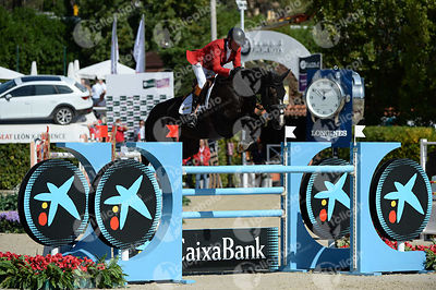 Jos LANSINK ,(BEL), GO EASY DE MUZE during Coca-Cola Trofey competition at CSIO5* Barcelona at Real Club de Polo, Barcelona - Spain