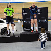Elite/Junior Women Points Race Podium. Ontario Track Championships, March 4, 2018