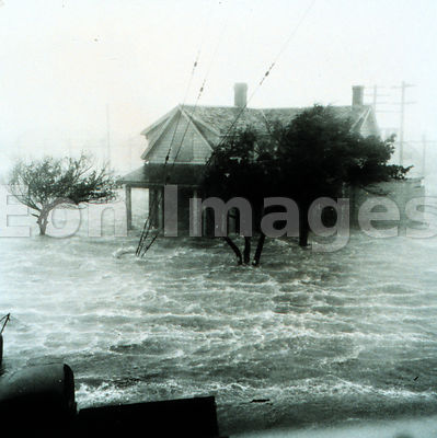 Storm surge after hurricane