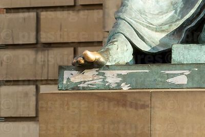 The Toe on the Statue of Philosopher David Hume is Stroked by Visitng Students of Philosopy and Considered to be a Good Luck Charm