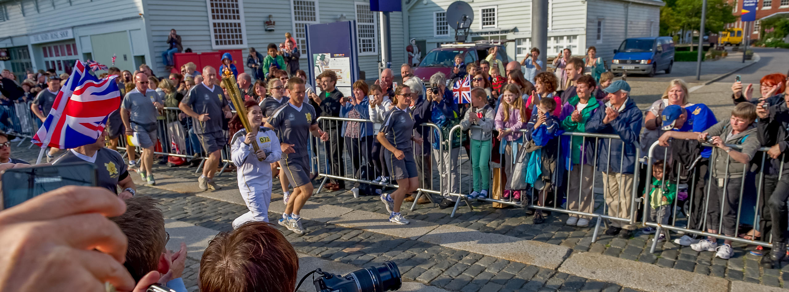 Olympic Torch Arrives in Portsmouth on day 58 of the Olympic Relay