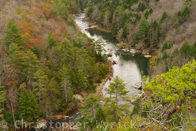 Beautiful image of the Obed River Gorge shot in late fall.