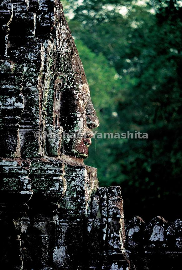 Haunting ruins, like these at Angkor Thom, are all that remain of the spectacular kingdom of Angkor.