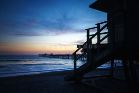 San Clemente Lifeguard Tower One Sunset Picture