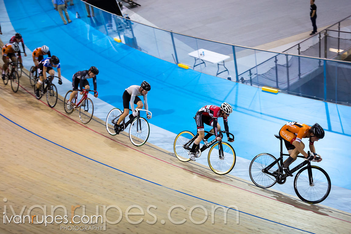 U17 Men Omnium Points Race. 2015 Canadian Track Championships, October 11, 2015