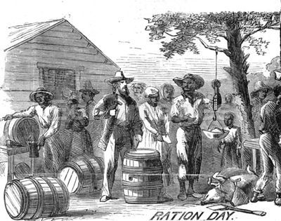 Plantation scene, Ration Day